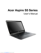 Acer Aspire S5-391 User Manual