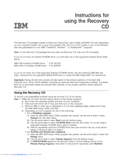 IBM ThinkPad R30 Instructions For Using