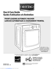 maytag front load washer service manual