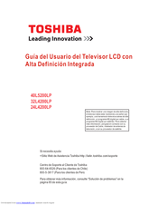 Toshiba 40L5200LP User's Manual