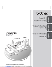 Brother Innov-ís 2500D Installation Manual