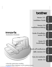 Brother Innov-ís 4000DLTD Installation Manual
