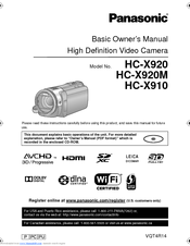 Panasonic HC-X920 Basic Owner's Manual