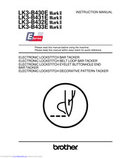 Brother LK3-B433E MKII Instruction Manual