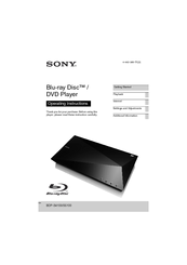 sony dvd player setup instructions