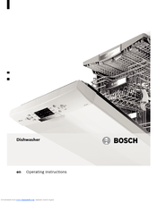 bosch smv50c00gb manuals rh manualslib com Bosch Countertop Dishwasher Old Bosch Dishwasher Models