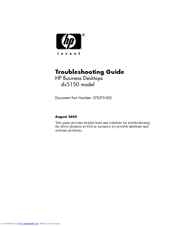 HP dx5150 Troubleshooting Manual
