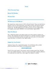 Agilent Technologies 6205B Operating Manual