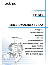 Brother PR-650C Quick Reference Manual