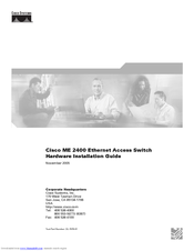 Cisco 2431 - IAD Router Hardware Installation Manual