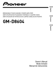 pioneer gm d8604. pioneer gm-d8604 owner\u0027s manual gm d8604