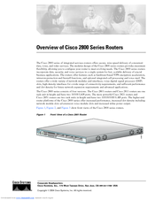 Cisco 2800 Series Overview