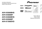 Pioneer AVH-X3500BHS Owner's Manual