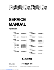 Canon PC900 Series Service Manual