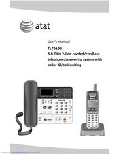 vtech tl76108 at t 5 8ghz digital corded cordless answering system rh manualslib com vtech phone answering machine manual vtech phone answering machine manual