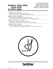 Brother TL-847A Instruction Manual