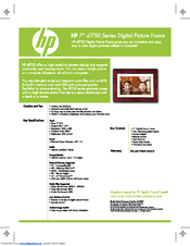 HP DF1000A3 Specifications