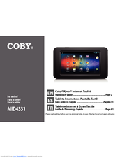 Coby MID4331 Quick Start Manual