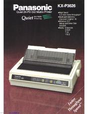 panasonic kx p3626 manuals rh manualslib com panasonic kx-p3626 service manual Panasonic Kx 390 B Manual