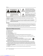 Haier HLC19SL2a Important Safety Instructions Manual