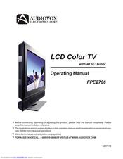 audiovox fpe2706 27 lcd tv operation manual pdf download rh manualslib com Polaroid Undercounter TVs for Kitchen Kitchen Under Cabinet for TV