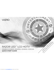 vizio e190va manuals rh manualslib com Vizio LCD TV Screen Replacement Vizio TV Dimensions