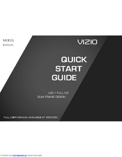 Vizio E420-A0 Quick Start Manual