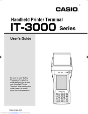 Casio IT-3000 - Win CE .NET 4.1 400 MHz User Manual