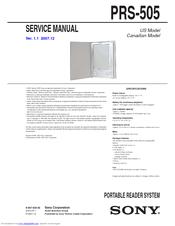 sony prs 505 sc portable reader system service manual pdf download rh manualslib com Sony PRS-600 sony portable reader system prs-505 manual