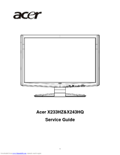 Acer X243HQ Service Manual