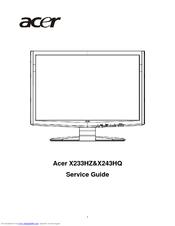 acer x243hq manuals rh manualslib com service manual acer aspire 5733 service manual acer aspire 9410