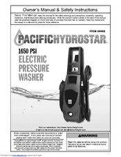 pacific hydrostar 1650 psi owner's manual and safety instructions pdf  download