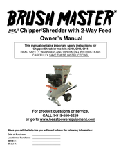 Brush Master Ch3 Owner S Manual