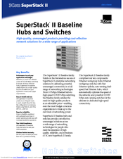 3Com 3C16440 - SuperStack II Baseline Hub 12 Data Sheet