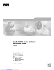 Cisco 6509 - Catalyst Chassis Switch Installation Manual