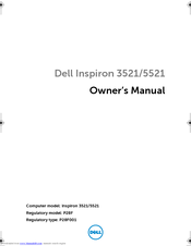 Dell Inspiron 3521 Owner's Manual