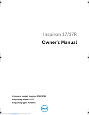 Dell Inspiron 3721 Owner's Manual