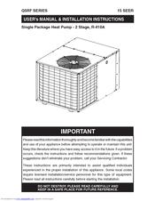 nordyne r 410a manuals well pump wiring