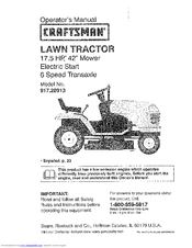 craftsman 28913 lts 1500 17 5 hp 42 lawn tractor manuals rh manualslib com craftsman lt2000 manual pdf craftsman lt2000 owners manual