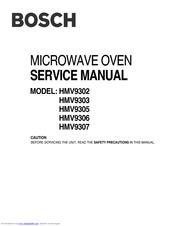 BOSCH HMV9302 - 1.8 CU. FT. MICROWAVE SERVICE MANUAL Pdf Download |  ManualsLibManualsLib