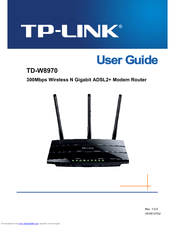 TP-LINK TD-W8970 USER MANUAL Pdf Download