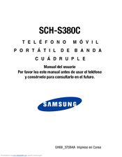 Samsung SCH-S380C Manual Del Usuario