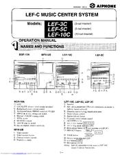 Aiphone LEF-10C Operation Manual