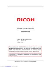 ricoh aficio mp 2352sp manuals rh manualslib com Ricoh Aficio MP 2352 Brochure ricoh aficio mp 2352 manual español
