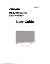 Asus ML229H Series User Manual