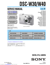 Sony Cyber-shot DSC-W30 Service Manual