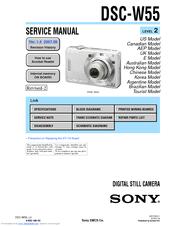 sony cyber shot dsc w55 manuals rh manualslib com sony cyber-shot dsc-w55 7.2 megapixels manual sony dsc-w55 manual pdf