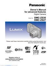 Panasonic Lumix DMC-ZS27 Manuals