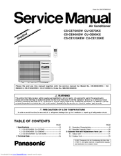 panasonic cs ce12gkew service manual pdf download rh manualslib com panasonic window air conditioner service manual panasonic econavi air conditioner service manual
