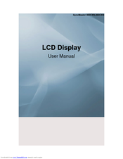 Samsung SyncMaster 400CXN User Manual